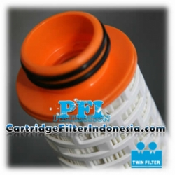 d TH2 40 20F Absolute Rated Pleated Twin Filter Cartridge Indonesia  large